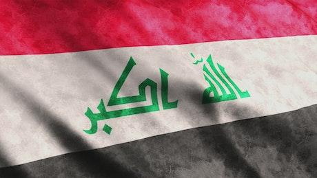 Iraq flag waving