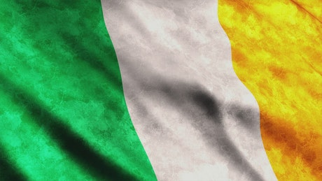 Ireland flag while is waving, 3D