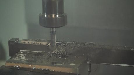 Iron drilling machine