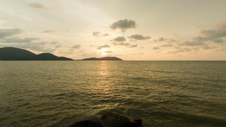 Island silhouettes against the horizon