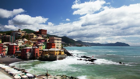Italy fishing village in the coast