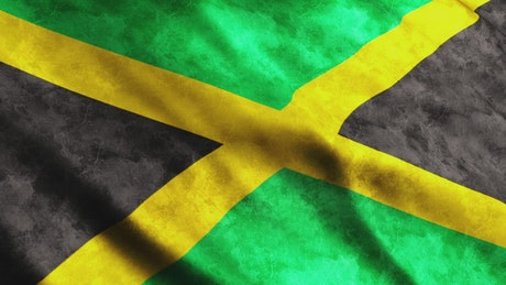 Jamaica flag waving, render
