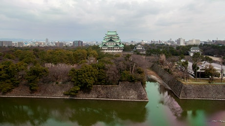 Japan city from the top of a park