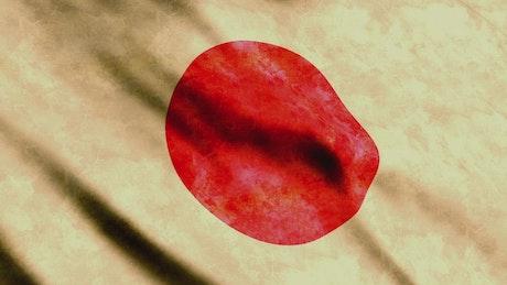Japan flag, render