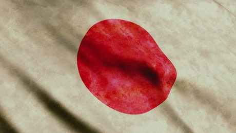 Japan flag viewed in detail