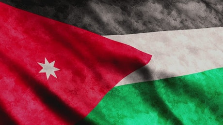 Jordan flag waving, 3D rendering