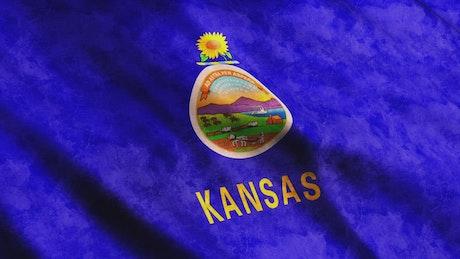 Kansas State flag from USA