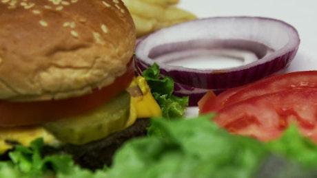 Ketchup on a burger