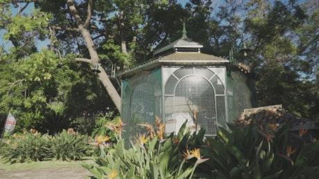 Kiosk in a garden