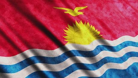 Kiribati 3D render flag