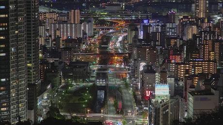 Kobe city landscape at night
