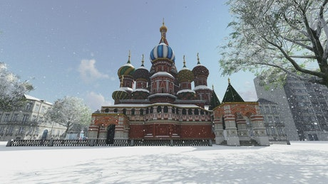 Kremlin Palace in winter