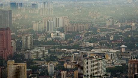 Kuala Lumpur city pollution