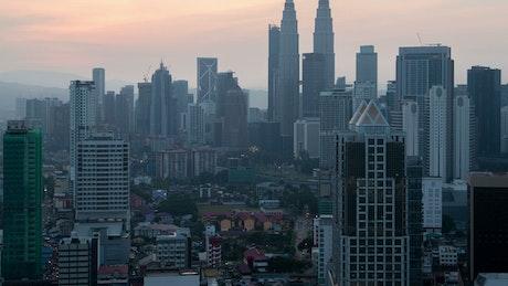 Kuala Lumpur cityscape buildings at night