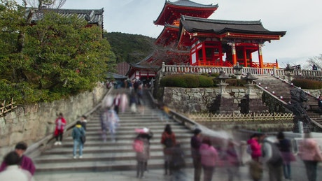 Kyoto Buddhist temple and tourism