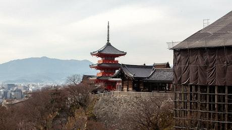 Kyoto historic temple building