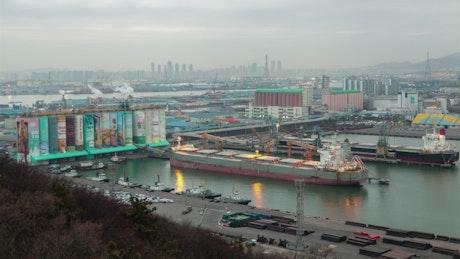 Kyoto industrial pier landscape