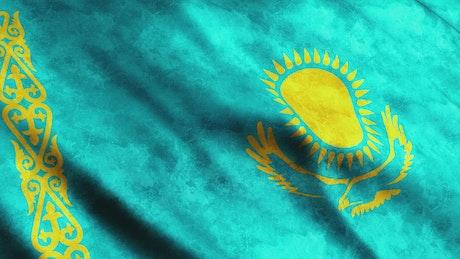 Kyrgyzstan flag, Asian country