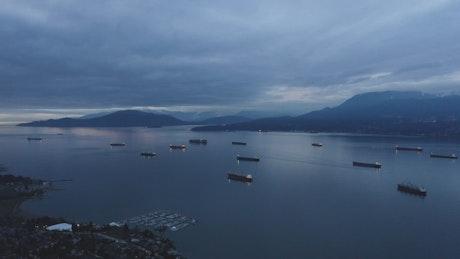 Lake full of boats