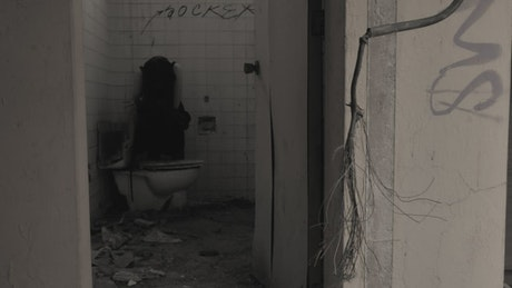 Lamenting ghost at a abandoned spot