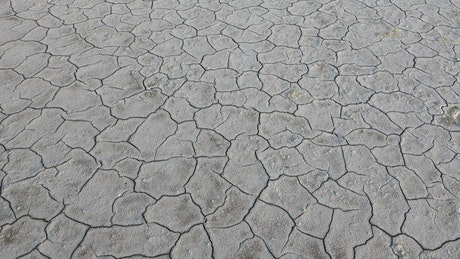 Land soil cracked from drought