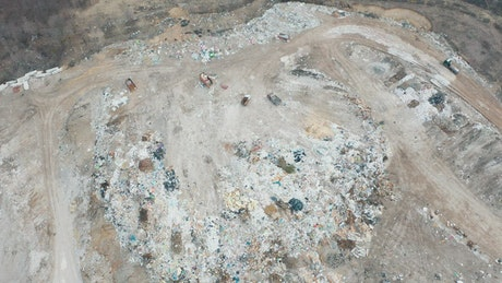 Landfill aerial view