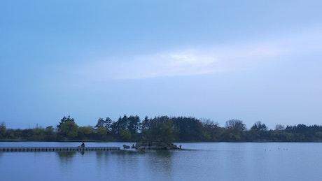 Landscape of a calm lake