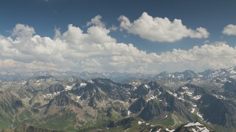 Landscape of a mountain range