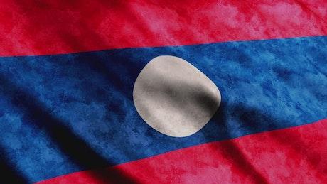 Laos waving flag in 3D render