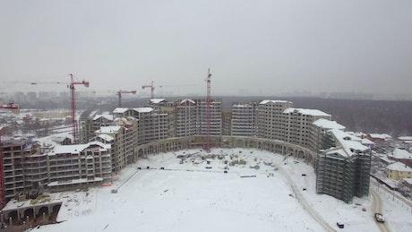 Large apartment block under construction