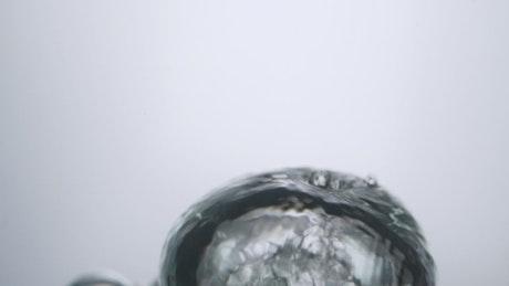 Large bubble underwater