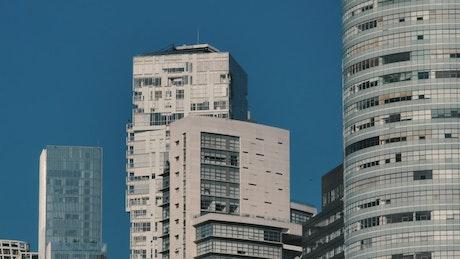 Large city buildings
