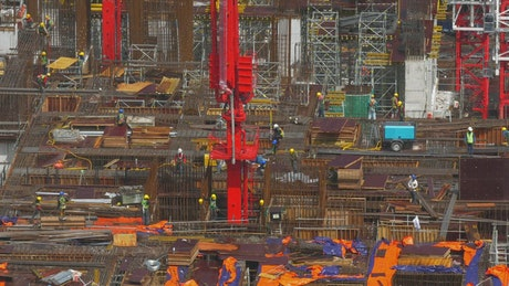 Large construction site in Malaysia