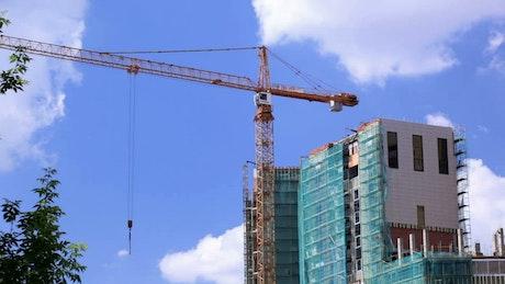 Large crane over a construction site