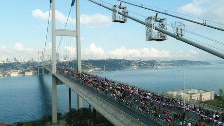 Large crowd of Marathon runners