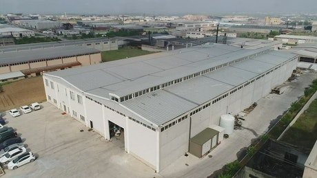 Large factory building