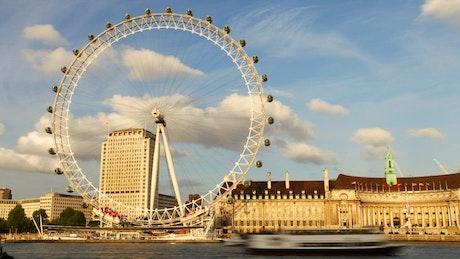 Large ferris wheel in London
