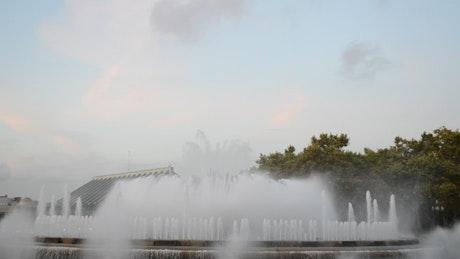 Large fountain display in Barcelona