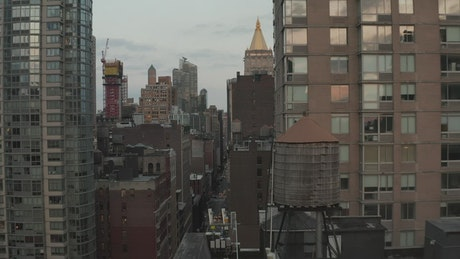Large old design buildings in New York