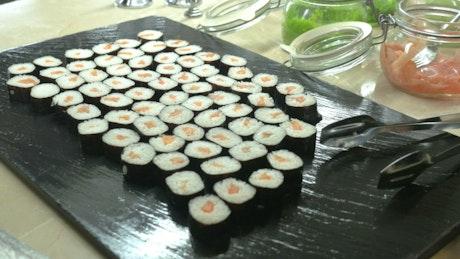 Large platter of Sushi