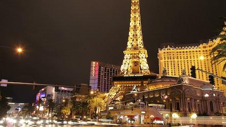 Las Vegas panning time-lapse