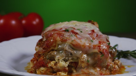 Lasagna with extra cheese