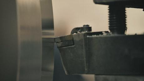 Lathe cutting steel