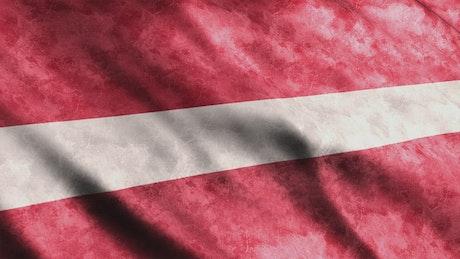 Latvia faded flag from Europe