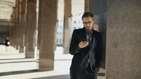 Lawyer using mobile cellphone