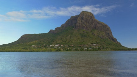 Le Morne Brabant from the ocean