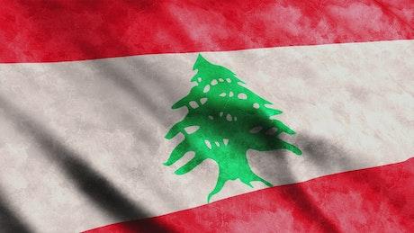 Lebanon waving flag