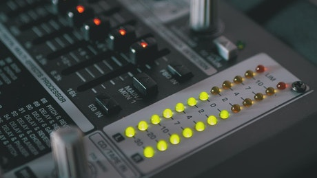 LED indicators of sound levels