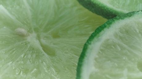 Lemon slices, closeup shot