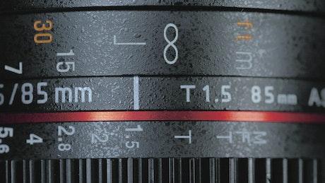 Lens focus of a DSLR camera
